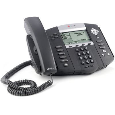 SoundPoint IP 650 6-line IP phone with HD Voice. Does not include AC power supply.