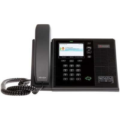 "CX600 IP Phone for Microsoft Communications Server ""14"". POE only. Includes stand / support, 7ft."
