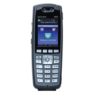 Spectralink 8452 without Lync support, North American Handset, Black