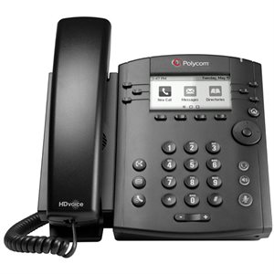 Microsoft Lync edition VVX 300 6-line Desktop Phone with HD Voice and Polycom UCS Lync License.